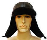 Мячик мужская шапка норковая (черная), фото 5