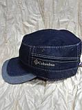 Немка синяя серая коричневая из двухцветной джинсы 56 57 58 59 60, фото 3
