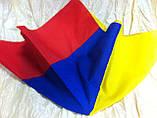 Двухцветная  бандана  жёлто сине красная, фото 2