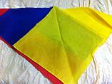 Двухцветная  бандана  жёлто сине красная, фото 3