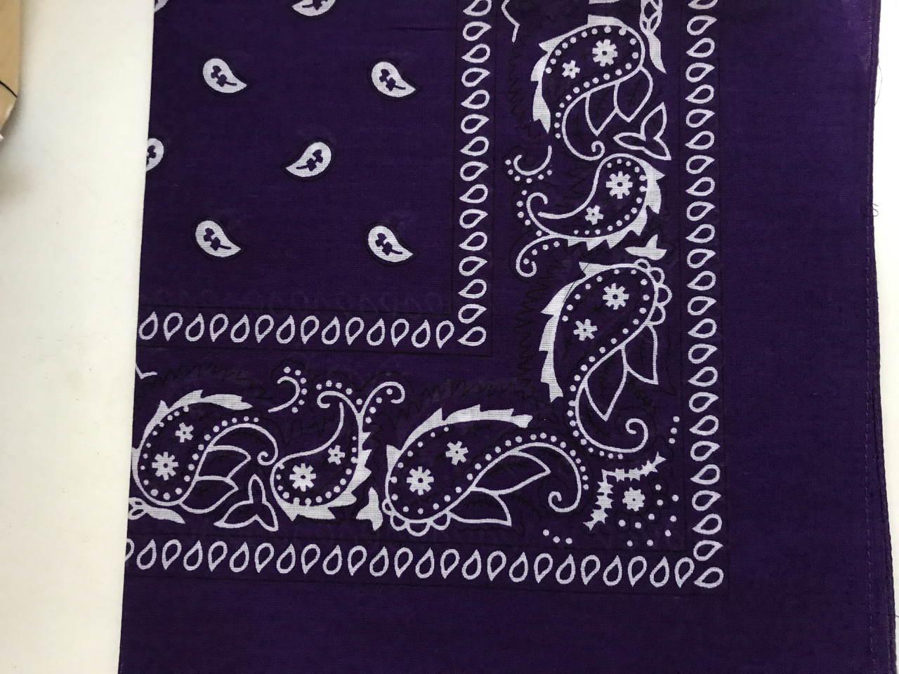 Хлопковая бандана (косынка) фиолетовая
