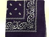Хлопковая бандана (косынка) фиолетовая, фото 2