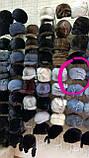 Женская  норковая шапка модель стюардесса украшение 2 полоски, фото 8