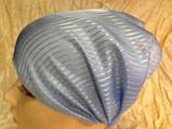 Косынка повязка Солоха на резинке цвет голубой, фото 4