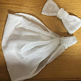 Косынка повязка Солоха на резинке цвет голубой, фото 7