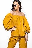 Летний женский костюм из льна размер 42 - 48 цвет бежевый, фото 9