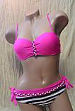 Яркий розовый женский раздельный купальник яскравий жіночий роздільний, фото 3