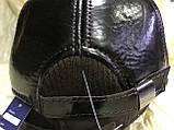 Бейсболка из натуральной замши и кожи 56-60 цвет темно коричневый, фото 4