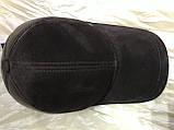 Бейсболка из натуральной замши и кожи 56-60 цвет темно коричневый, фото 9