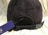 Бейсболка из натуральной замши и кожи 56-60 цвет темно коричневый, фото 10