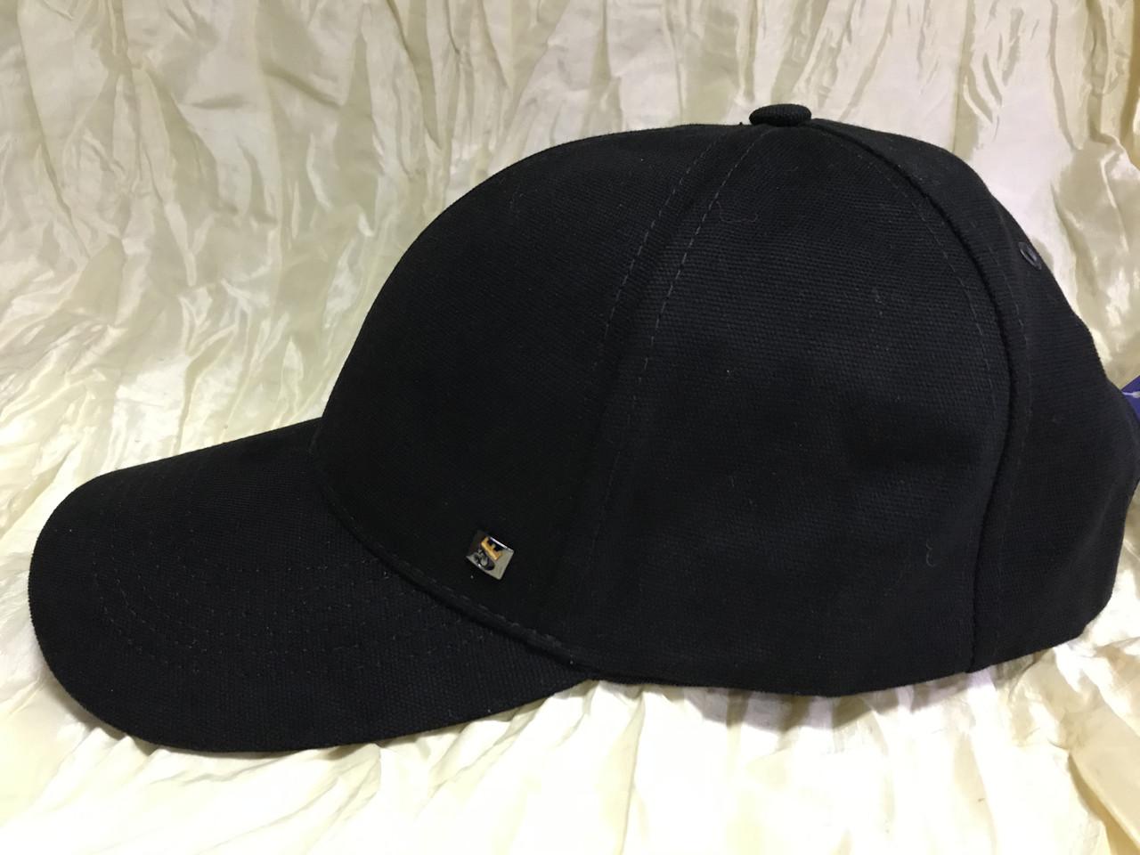 Бейсболка чёрная и синяя из плотного коттона 59-60-62