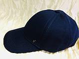 Бейсболка чёрная и синяя из плотного коттона 59-60-62, фото 2