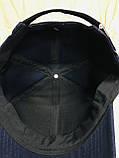 Бейсболка чёрная и синяя из плотного коттона 59-60-62, фото 3