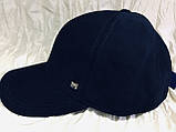Бейсболка синяя и чёрная из коттона 56-58-60-62, фото 3