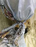 Летняя  хлопковая бандана-шапка-косынка цвет персиковый  голубой, фото 4
