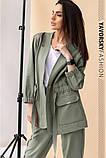 Спортивный женский костюм на манжетах  на поясе с карманами, фото 2
