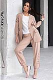 Спортивный женский костюм на манжетах  на поясе с карманами, фото 4