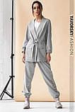 Спортивный женский костюм на манжетах  на поясе с карманами, фото 6