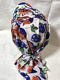 Разноцветная бандана-шапка-косынка с козырьком и объёмной драпировкой, фото 2