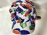 Разноцветная бандана-шапка-косынка с козырьком и объёмной драпировкой, фото 3