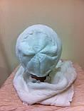Молодежный комплект шапка и шарф красного цвета, фото 4