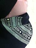 Женский набор  шапочка и шарф с рисунком, фото 2