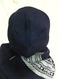Женский набор  шапочка и шарф с рисунком, фото 3