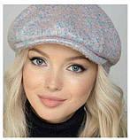 Молодёжная  кепка-хулиганка из шерстяного драпа, фото 2
