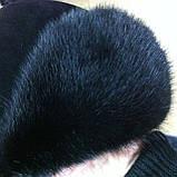 Мужская  ушанка из  натуральной  замши и норки, фото 5