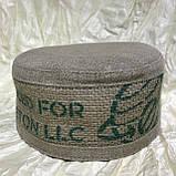 Талибанка тюбетейка з щільного льону і мішковини 55-59, фото 2