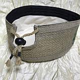 Талибанка тюбетейка з щільного льону і мішковини 55-59, фото 3