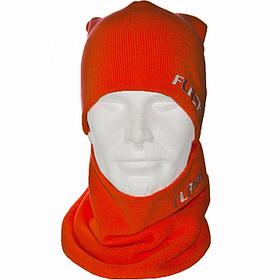 Синій комплект шапка +шарф труба
