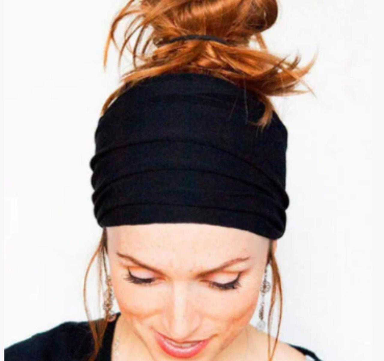 Повязка для фиксации волос черная