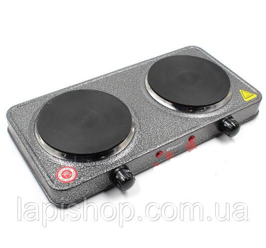 Электроплита DOMOTEC MS-5822 (дисковая на 2 конфорки/2Д)
