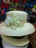 Летняя шляпа с большими полями из соломки, фото 2