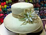 Летняя шляпа с большими полями из соломки, фото 3