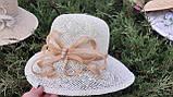Летняя шляпа из натуральной  соломки цвет бежевый, фото 2