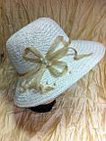 Летняя шляпа из натуральной  соломки цвет бежевый, фото 5