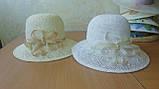 Летняя шляпа из натуральной  соломки цвет бежевый, фото 10