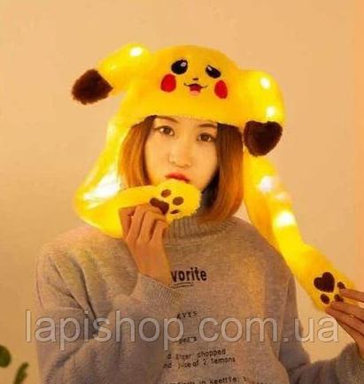 Светящаяся шапка с двигающими ушками Pikachu