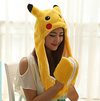 Светящаяся шапка с двигающими ушками Pikachu, фото 3
