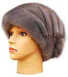 Норковая женская шапка Ника серая, фото 2