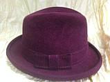 Молодёжная фетровая шляпа мужского стиля, фото 3