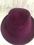 Молодёжная фетровая шляпа мужского стиля, фото 5