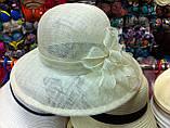 Капелюх на літо з натуральної соломки синамей, фото 4