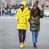 Бордовая куртка плащевая ткань + эко мех кролика S/M, L/XL, фото 6