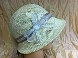 Летняя шляпа с маленькими ассиметричными полями из соломки, фото 2