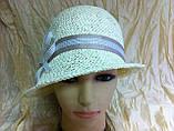 Летняя шляпа с маленькими ассиметричными полями из соломки, фото 3
