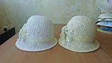 Летняя шляпа с маленькими ассиметричными полями из соломки, фото 5