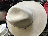 Фетровий капелюх чоловічого стилю поля 9.5 см, фото 2